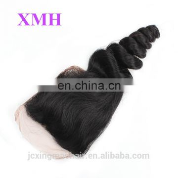 Wholesale cheap virgin brazilian lace closure loose wave hair closure