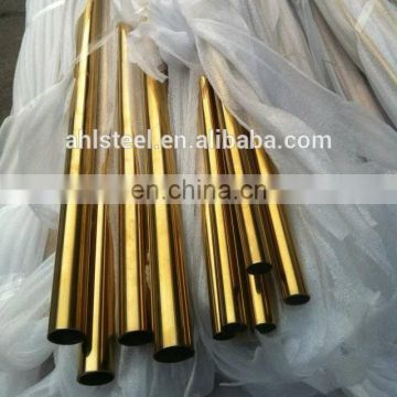 Polished Rosed Gold Color Stainless Steel Pipes for decor