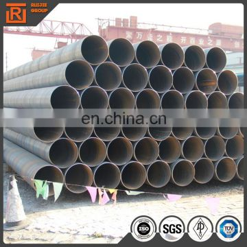 ASTM A53 black spiral steel pipe, outer diameter 14 inch carbon steel pipe, spiral submerged-arc welded pipe