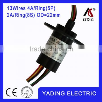 capsule slip ring 022-5P 8S dia.22mm 13 wires 4A/5wires 2A/8wires