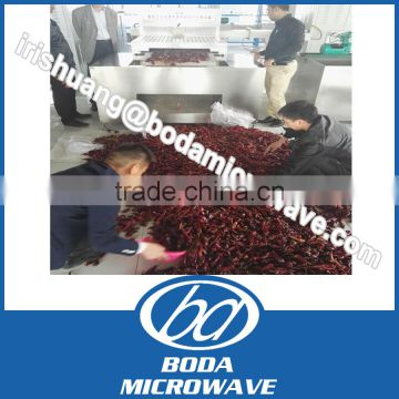 industrial automatic continuous microwave red chilli dryer