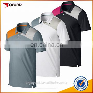 dry fit customized logo sublimation printed golf polo t-shirt for man