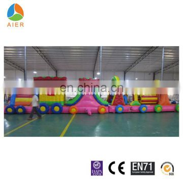 PVC material Commercial Inflatable small train for kids