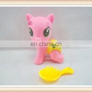 baby fairy plastic rubber horse toy