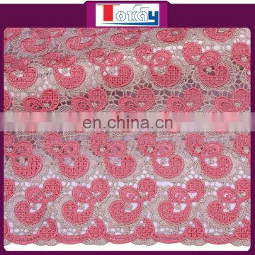 guipure cord lace fabric coral lace fabric new