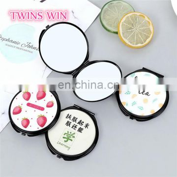 China Supplier 2018 alibaba website most fashionable personalized pocket plastic cosmetic mirror in bulk