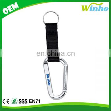 Winho Carabiner With Split Ring & Nylon Strap