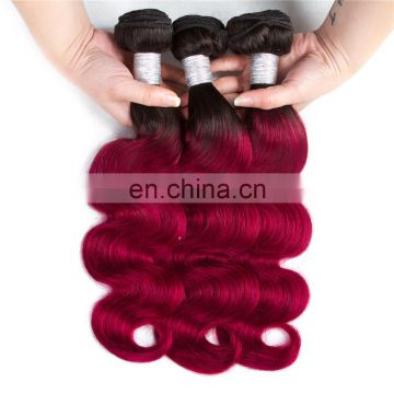 xuchang Fuxin 100% Brazilian human hair extensions two tone ombre colored hair weave bundles body wave silk staight