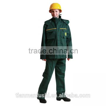 2015 Quality Green Workwear Suit Customed Hard Wearing Working Clothes OEM Uniforms