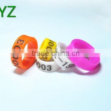 2016 fancy rings plastic poultry leg rings with 6-18mm of