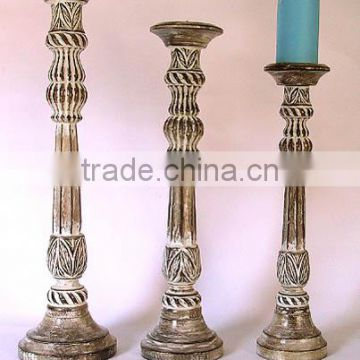 wood candle stand, hand carved wooden candle holder, tall wooden candle holder, Wedding decoratiion candle holder