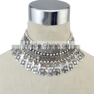 Fashion Vintage Boho Women's Short necklace Choker Necklace Charm Clavicle Chain Jewelry Silver