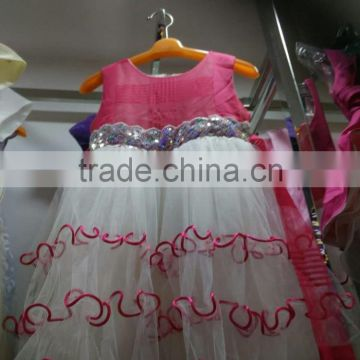 564e220e8 ... Wholesale guangzhou kids clothes stock,baby girl summer dress with  coloer printing girl party wear ...
