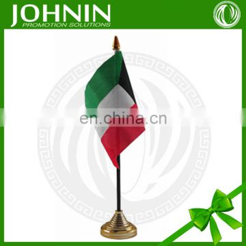 cheap custom polyester promotional national table flag of kuwait