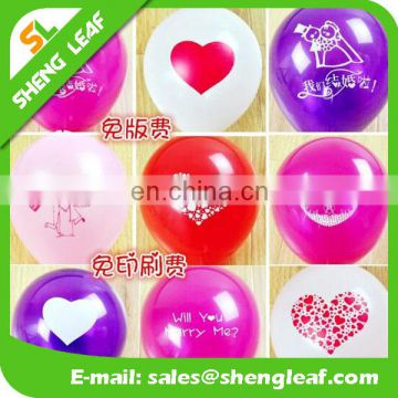 best selling with different logo printing translucent latex balloon