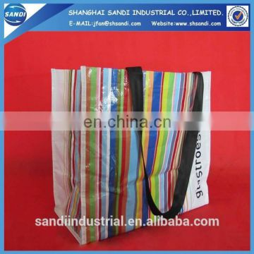 customized printing PP woven fabric plastic shopping bag