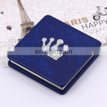 Luxury crown-deep blue square cosmetic pesonal mirror gift for women