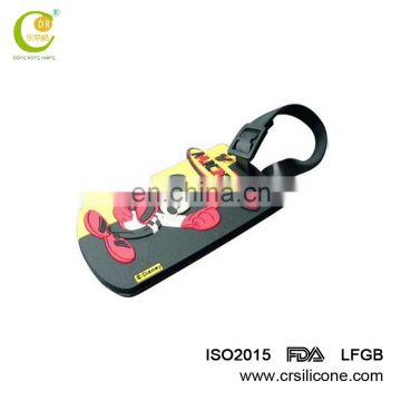 Alibaba Customized silicon name tag pvc luggage Tag