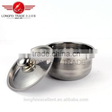 2016 best quality popular in niddle east stainless steel cookware pot/stainless steel camping pot