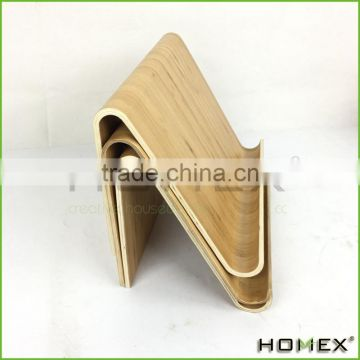 Bamboo tablet pc holder/ wood tablet stand Homex-BSCI