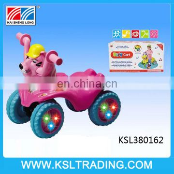 Free wheel sit baby car with music and light