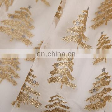 New Design Famous Bronzing Holiday Decoration Fabric