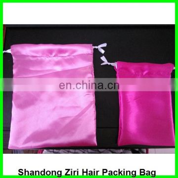 satin and Silk Drawstring Hair Extension Packing Bag