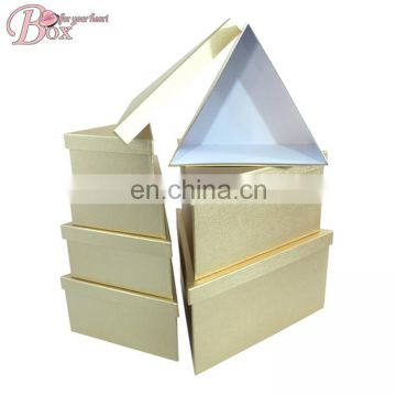 Golden Triangle Cardboard Cosmetic Box