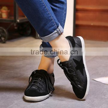 2016 Fashion Lace Up Leisure Pointed Toe Female Casual Shoes Comfortable Sport Shoes Sneakers