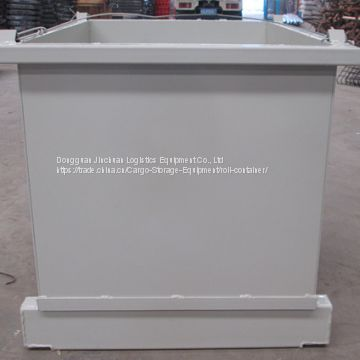 Fire Resistant Full Steel Pallet Box / Bulk Cages For Conveying