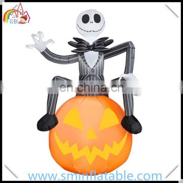 Halloween decorative led inflatable skeleton,advertising inflatable halloween ornament for outdoor event