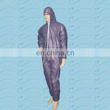 disposable nonwoven PP coverall protective working gown