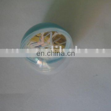 plastic hollow ball with 3.5 cm in diameter for open