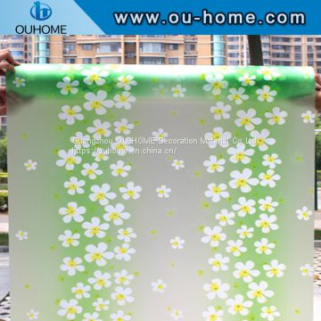 BT819 PVC adhesive window film stained glass