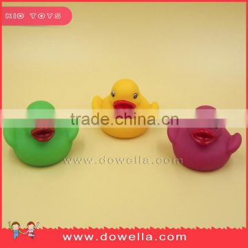 Plastic bath toys for children, bath vinyl duck BPA free baby toys, floating bath duck kids soft toy for sale