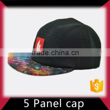 leather patch 5 panel hat hip hop