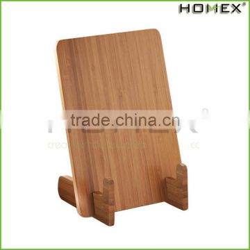 Bamboo book holder stand wood/ cookbook stand Homex-BSCI
