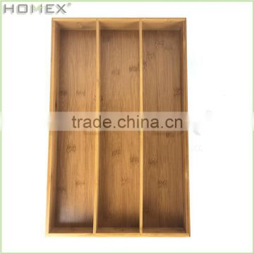 Flatware Drawer and Tabletop Organizer in Bamboo/Homex_BSCI