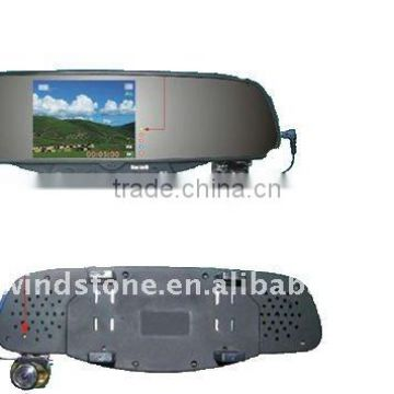 Wireless Auto DVR Bluetooth Handsfree Rearview Mirror Camera Car Kit