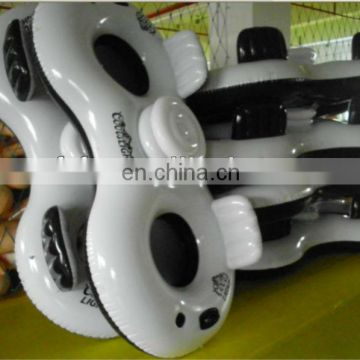 Inflatable Two Person River Float Tube with Ice Cooler