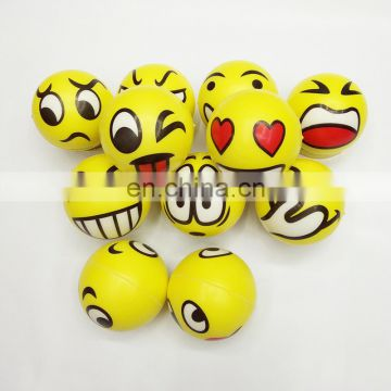 assorted expression soft pu relieve stress novelty relax toys emoji face squeeze balls