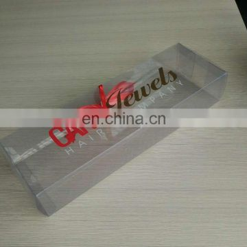 Custom Box For Clear Pvc Packing Wig Packaging Box