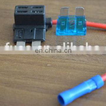 Add Circuit Standard Blade Fuse Holder ATC Piggy Black Tap
