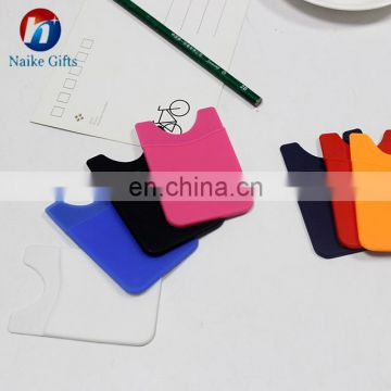 Card Holder Wallet Sticky Phone Wallet Silicone