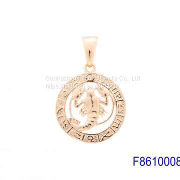 The Rose Gold Plated Fashion 12 Constellation Pendant