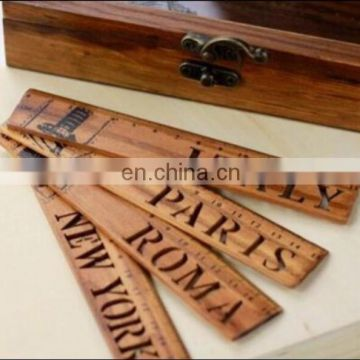 Vintage Student's Stationery Environmental Wood Material Rulers