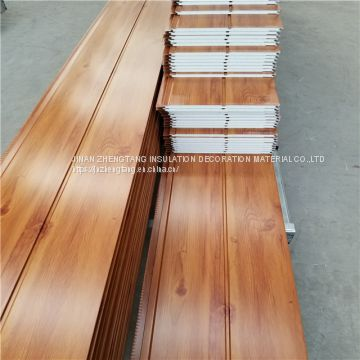 wood heat insulation external wall decorative metal wall siding