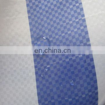 165g tear resistant blue white stripe tarpaulin for market stall patio awning shade