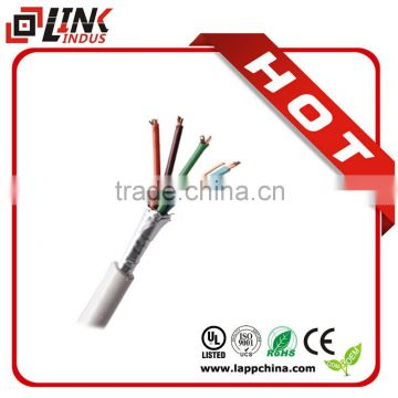 Free shipment 4core 2pair twisted copper wire shield security alarm cable from China and Asia