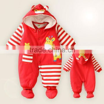 2016 winter new style baby's knitted romper keep warm high quality Wholesale kid clothing